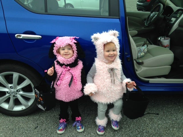 Contributed Photo Twins Zola and Paizley Tucker are ready for Halloween at the trick or treat event at Knoxville Center Mall. They are the daughters of Bettina Tucker. 2014