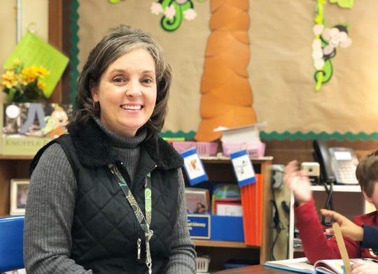 Tammy Carr, first-grade teacher at Adrian Burnett Elementary.