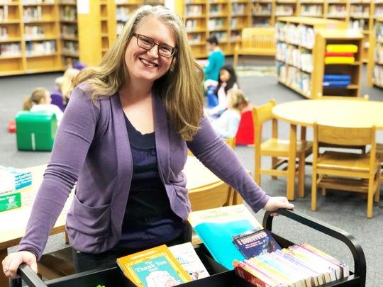 Crystal Dougan, librarian at Brickey-McCloud Elementary.