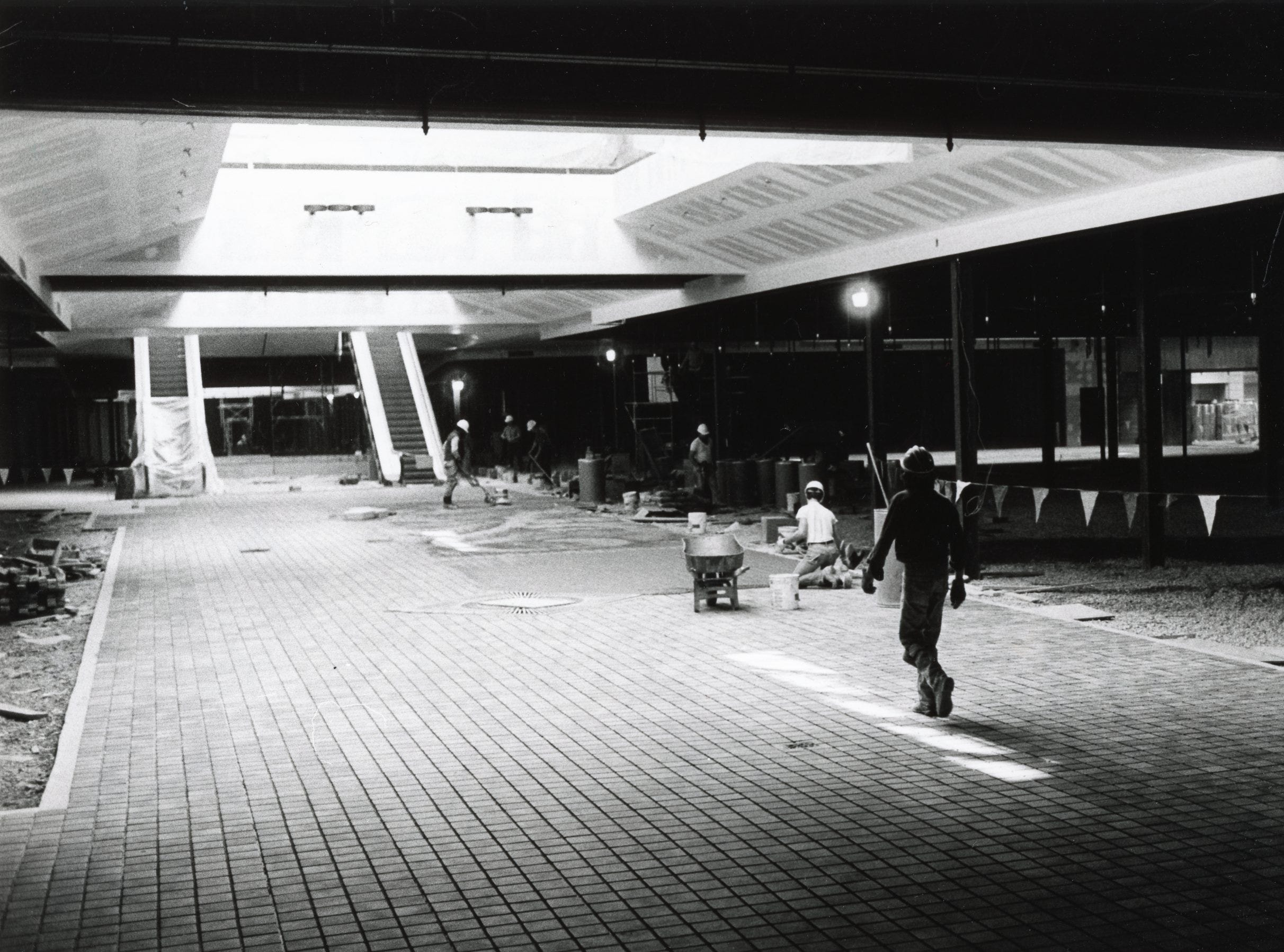 East Towne Mall construction, March, 1984.