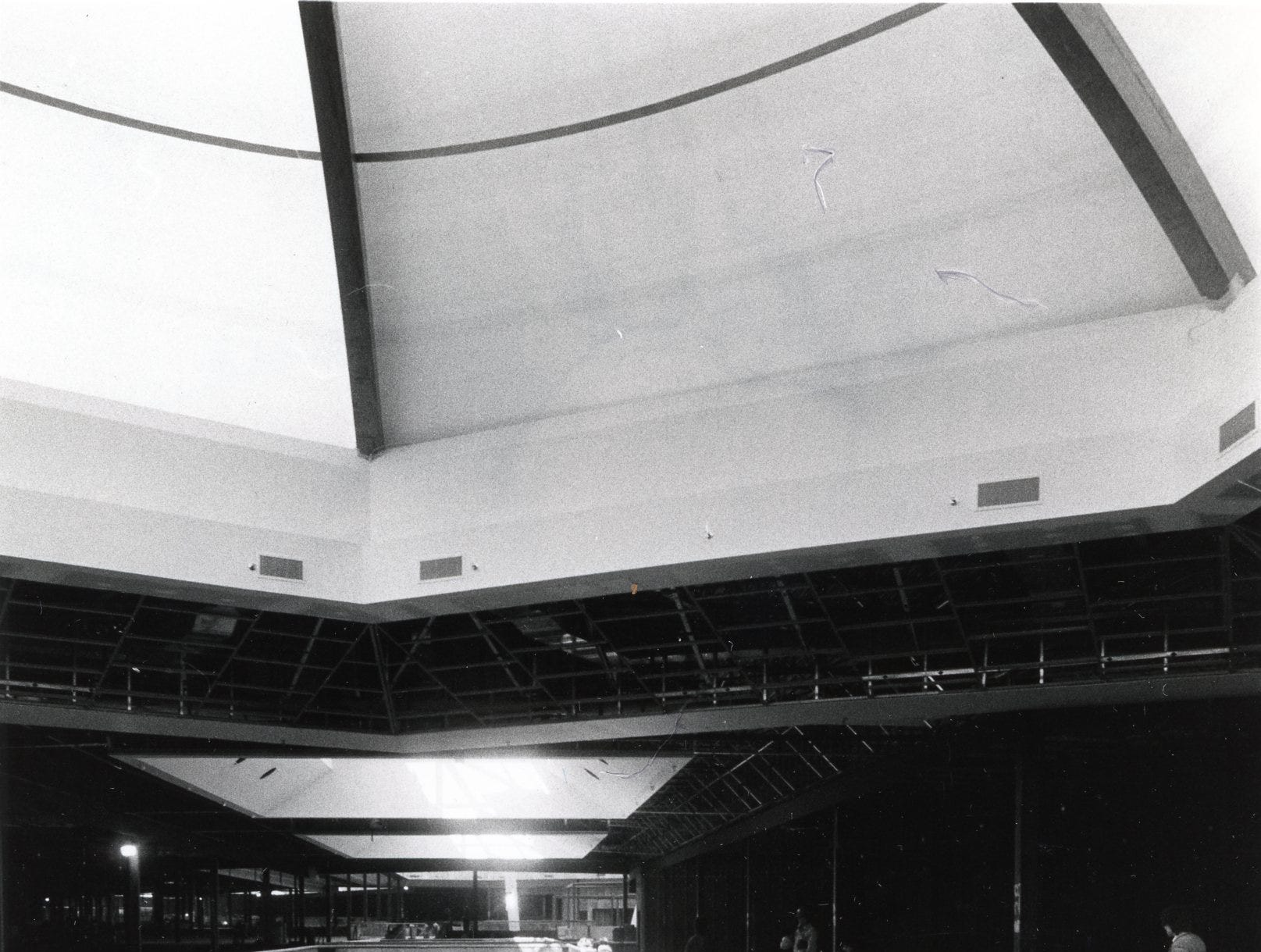 Construction continues at East Towne Mall, March, 1984.