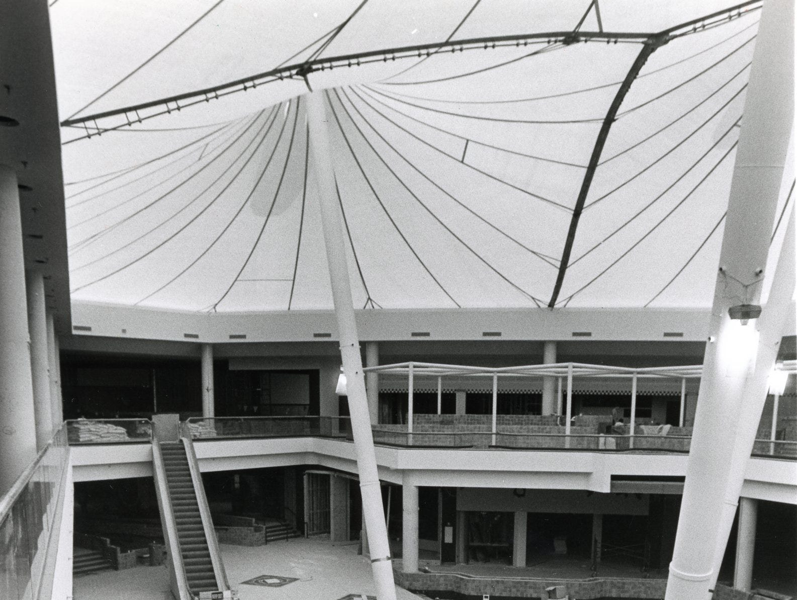 East Towne Mall construction, July 1984.