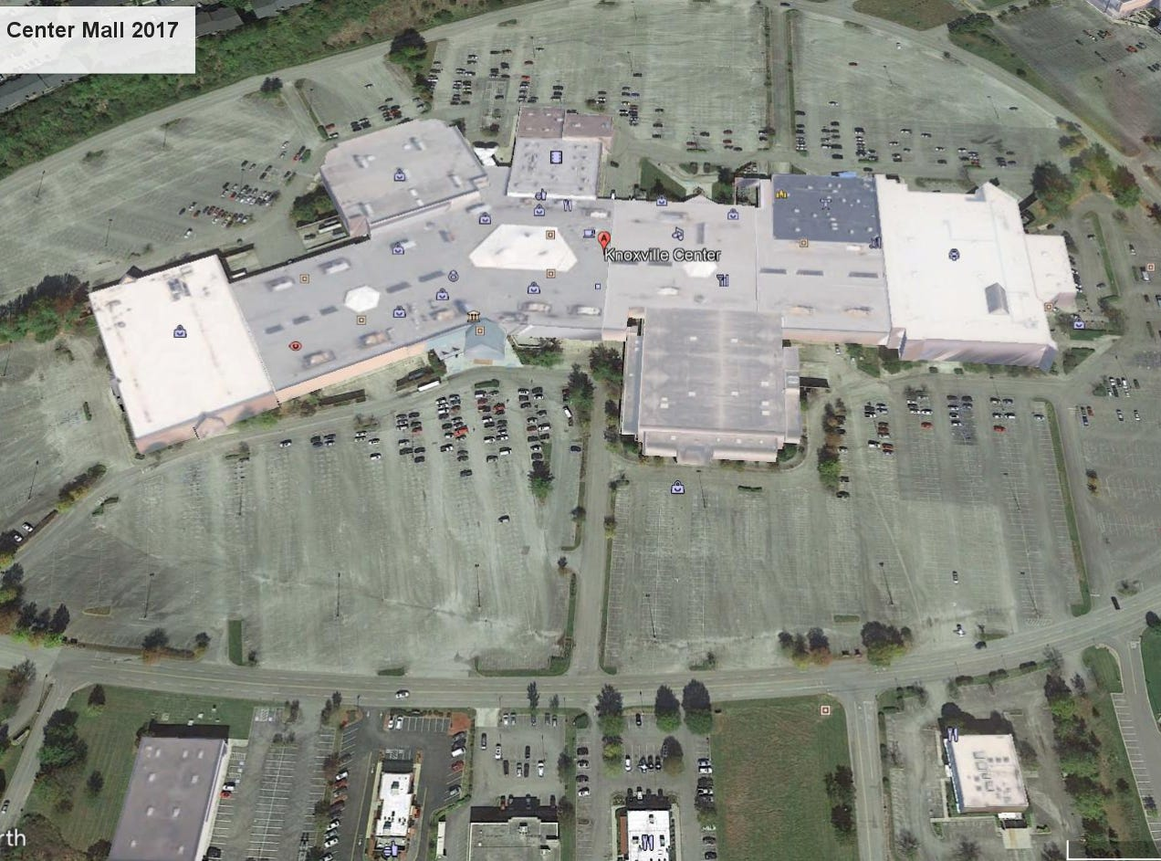 Knoxville Center Mall aerial view, 2017.