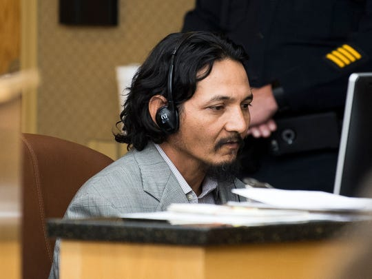 Francisco Eduardo Franco-Cambrany during his preliminary hearing in Knox County General Sessions Court on Jan. 17.