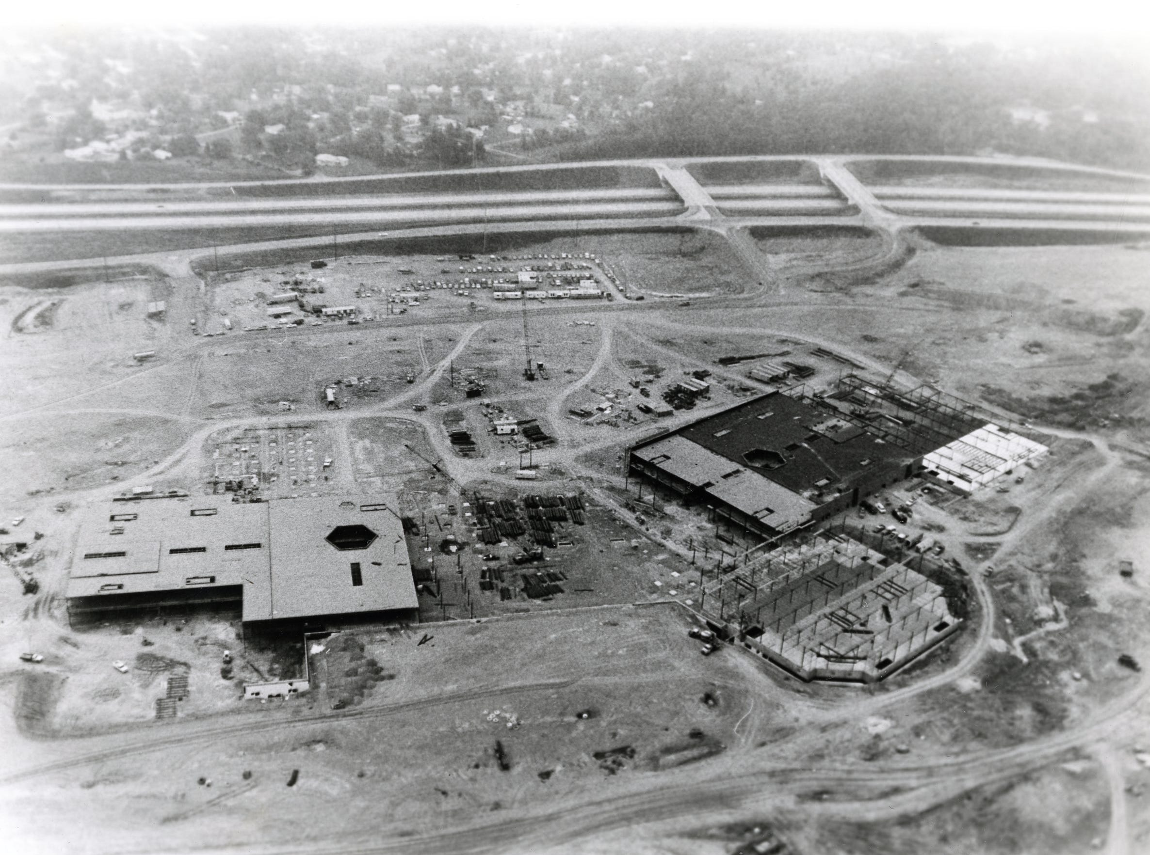 East Towne Mall construction, August, 1983.