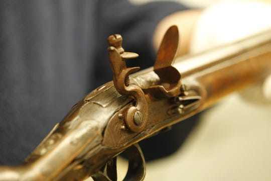 This rare British trade musket recently donated to the Tippecanoe County Historical Association is the type of musket that the Native Americans used in the Battle of Tippecanoe in November 1811. The British supplied these weapons to Native Americans before and during the War of 1812 as a way to incite violence on American settlers and soldiers.
