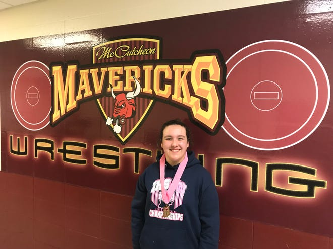McCutcheon freshman Riley Dempewolf won a state championship, the first female state wrestling champion from Tippecanoe County.