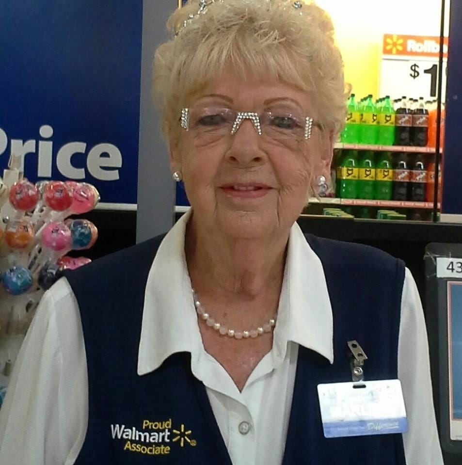 Queen of Walmart wears crown to work every day