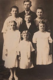 The Kuchta siblings, ca. 1926. Cecilia (Kuchta) Spalding is front row left, about 9-years-old. Cecilia will celebrate her 102nd birthday Jan. 19, 2019.