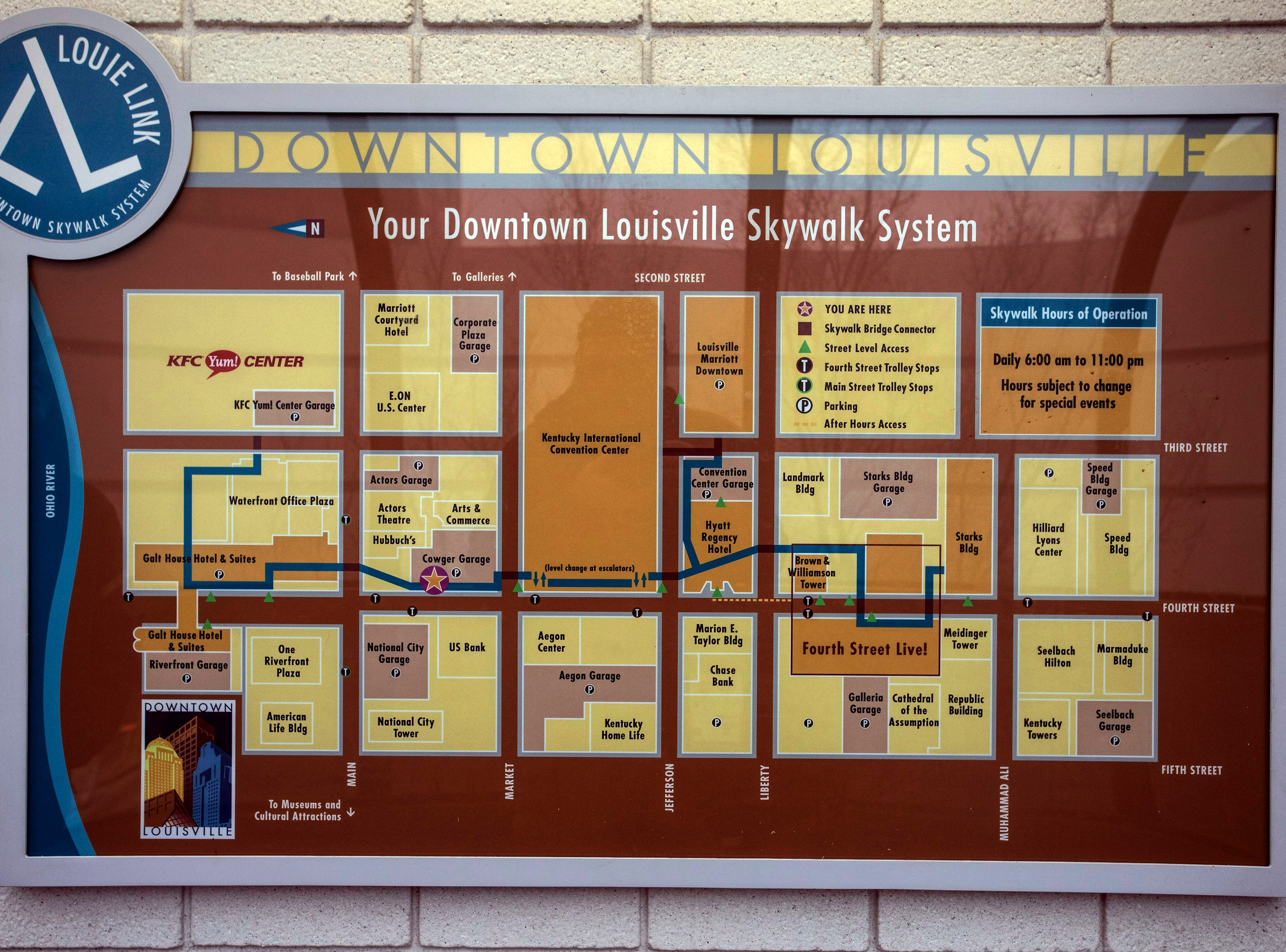 Maps of the entire Louie Link can be found posted along the route. 1/6/19