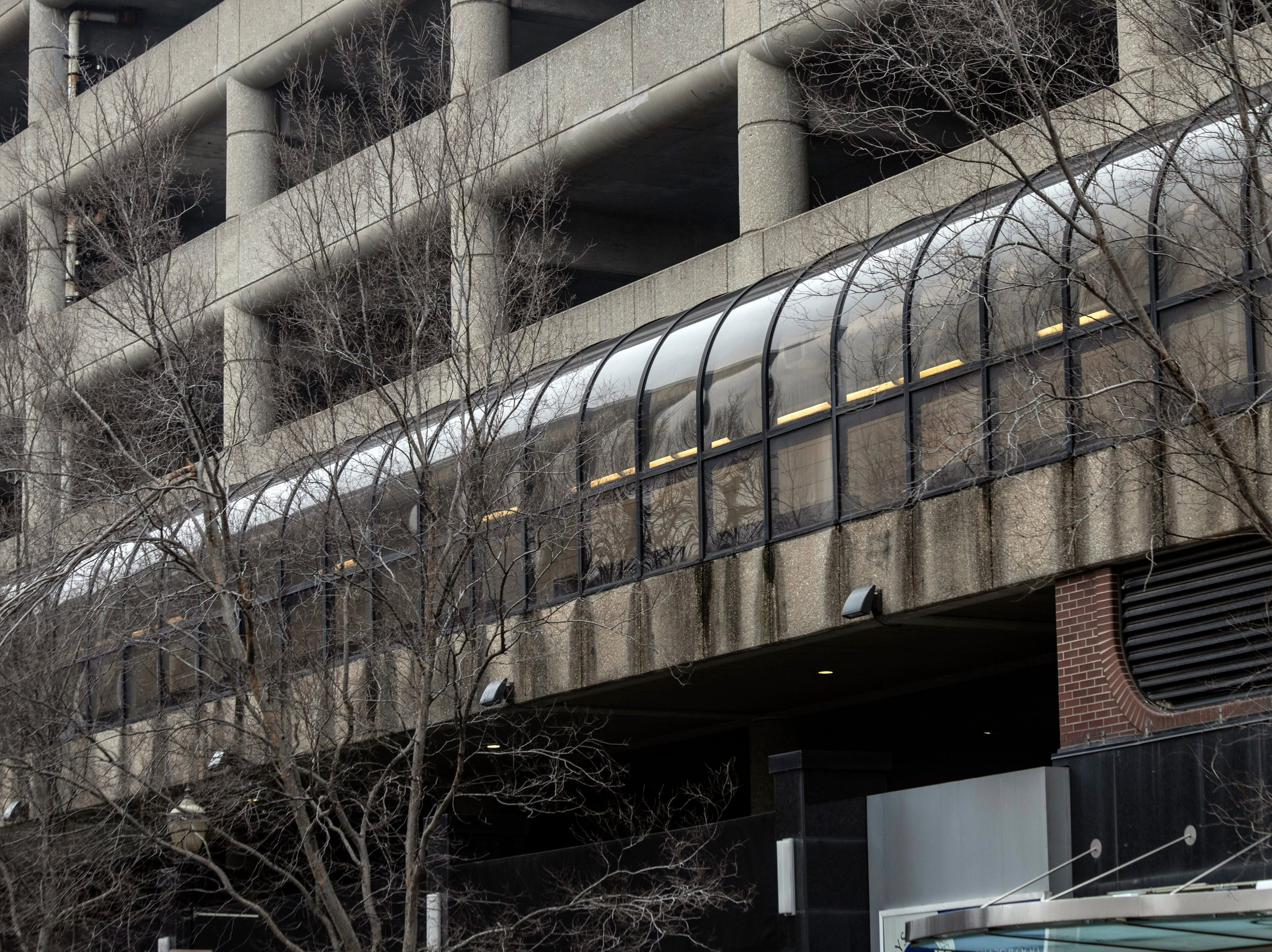 One of the longer stretches of the Louie Link runs the length of the Cowger Garage on 4th Street between Market and Main Streets. 1/16/19