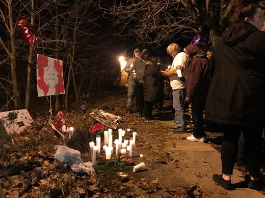 On Jan. 16, a memorial marked the spot where Hanna Barron, 19, was shot and killed.
