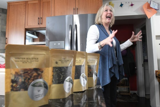 Twisted Fig Tea Co. owner Joyce Wells, known for her packaged loose leaf teas, is excited about her product being offered at a Macy's store in Pennsylvania.