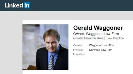 A screenshot of attorney Gerald Waggoner's profile on social media platform LinkedIn.