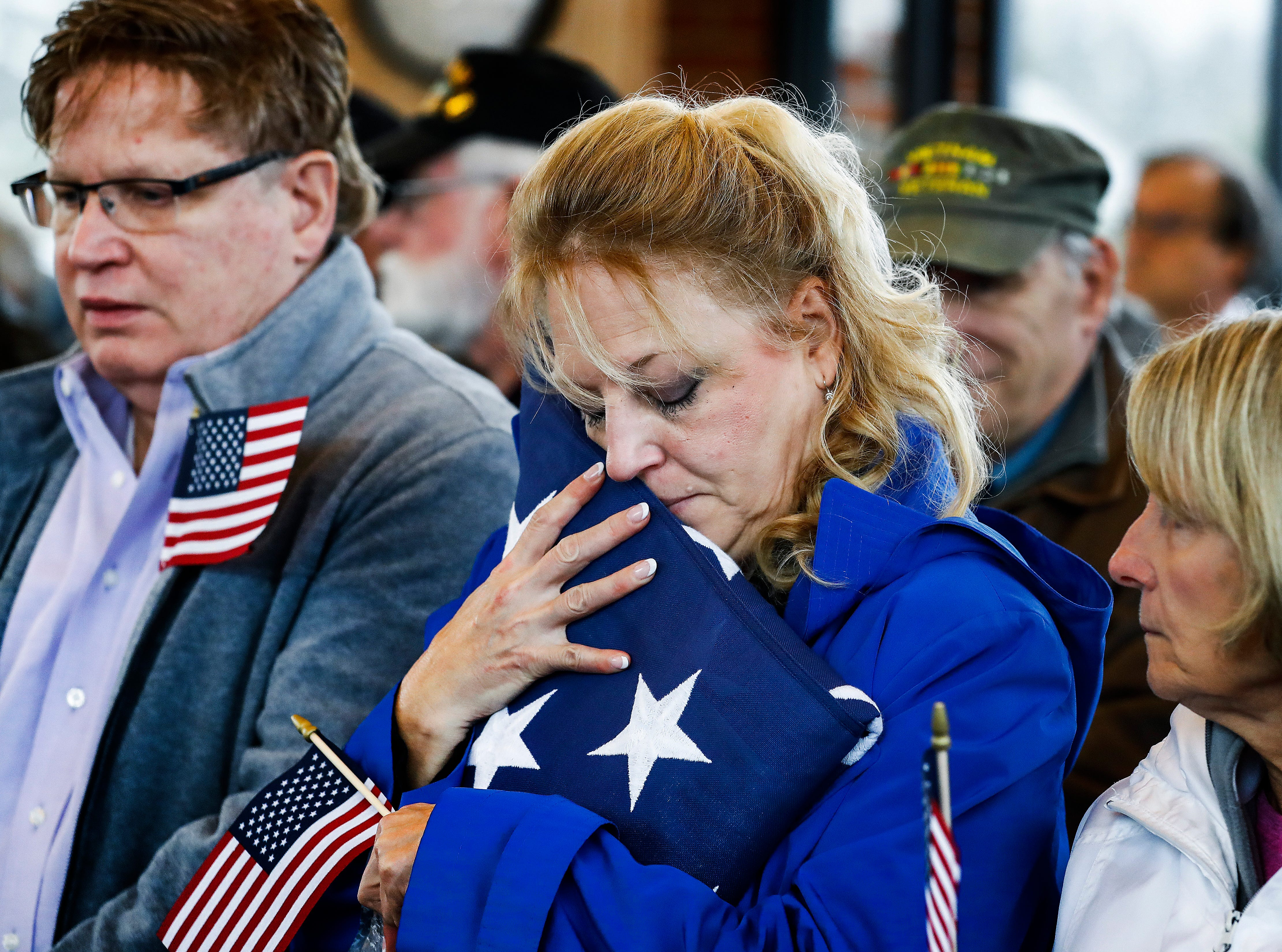 Scenes from a Committal Service with Military Honors for Wesley Russell, 76, Arnold Martin Klechka, 71, and Charles Bradley Fox, 60, who all died with no immediate family. The public was invited to take part their military funerals on Thursday, January 17, 2019.