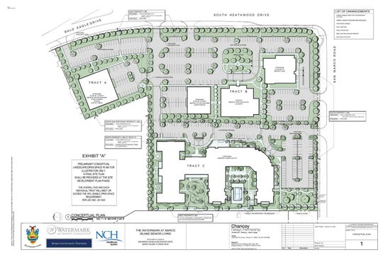 The landscape plan for the proposed assisted living facility on NCH's property.