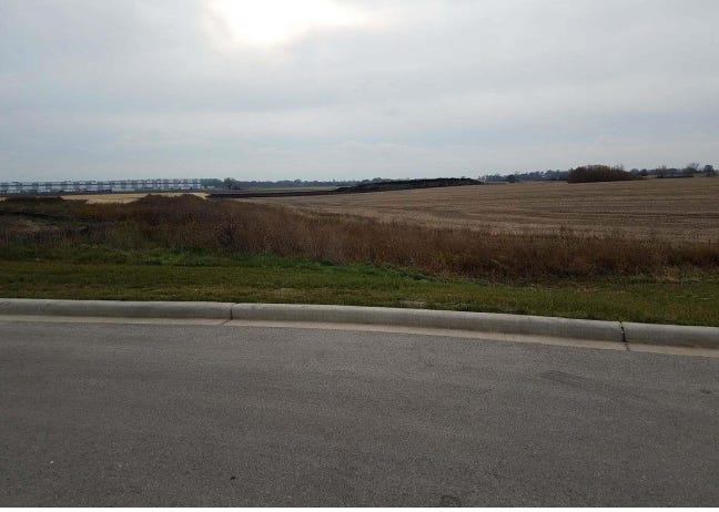 A large distribution center is planned for this undeveloped site in Mount Pleasant, east of I-94 and south of Highway 20.
