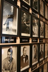Autographed celebrity photos fill the walls at the Surf Ballroom in Clear Lake, Iowa.