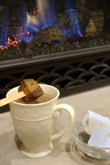 A roaring fire and a mug of hot chocolate made with a cocoa block, homemade marshmallows at the ready. What could be better?