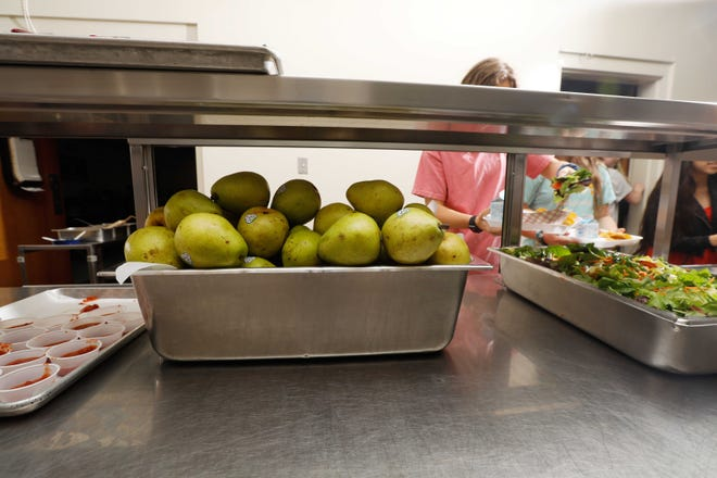 Students go through the lunch line in the Mountain Home School District. Several anonymous donors have stepped up to help provide meals to students whose parents are struggling financially.