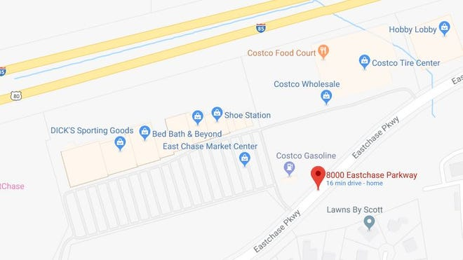 Police responded to a report of a person shot in the 8000 block of Eastchase Parkway.