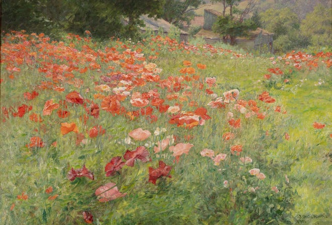 """""""In Poppyland,"""" 1901, John Ottis Adams, American (1851-1927), oil on canvas, David Owsley Museum of Art; Frank C. Ball Collection, gift of the Ball Brothers Foundation, 1995.035.040"""
