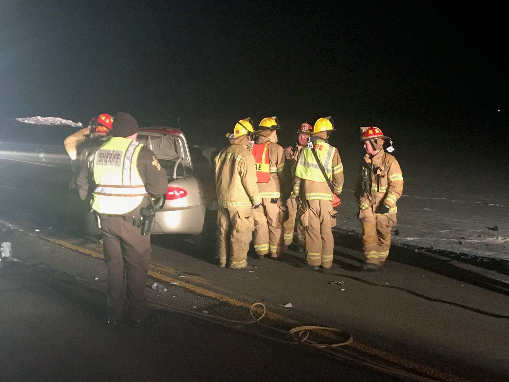 One person was killed and another seriously injured late Wednesday in a head-on collision on Ind. 67 northeast of Muncie.