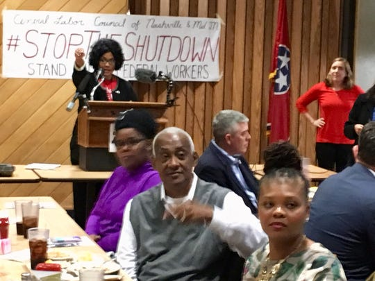 Nashville-area federal workers and union members  met in Nashville on Thursday, Jan. 17, to speak out about how the partial government shutdown was affecting them.