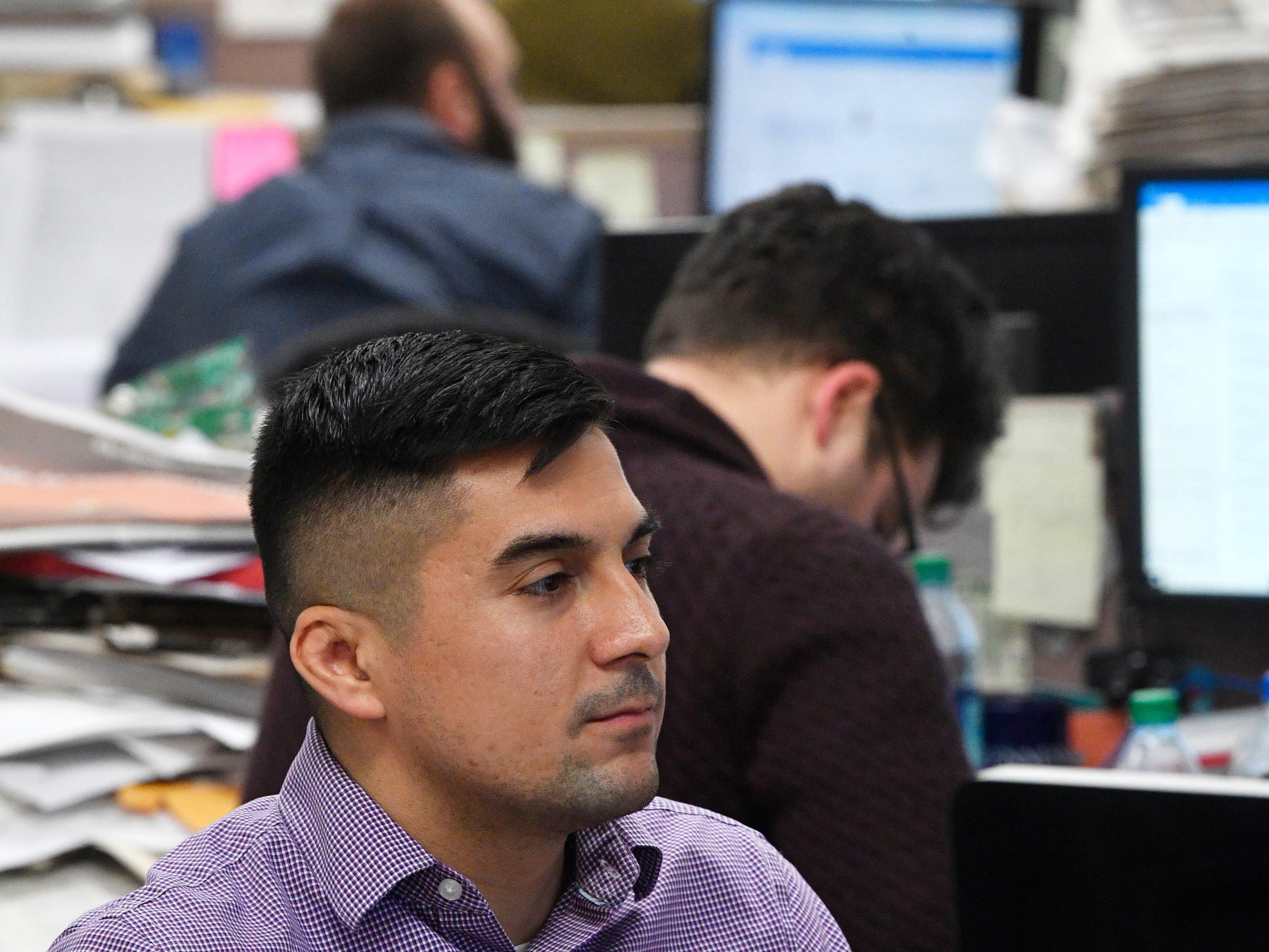 Education reporter Jason Gonzales works in The Tennessean newsroom Wednesday, Jan. 2, 2019, in Nashville.