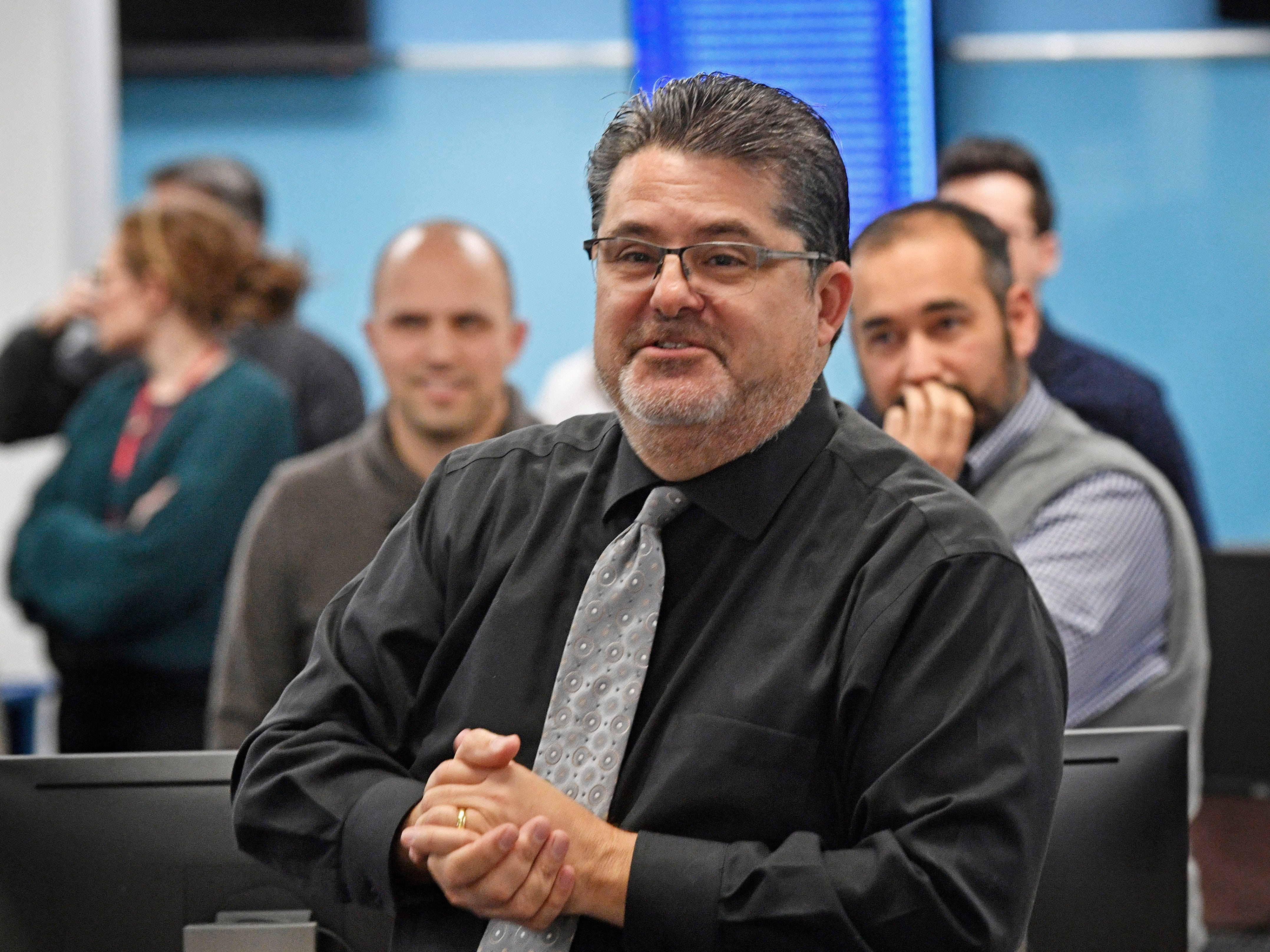 VP and Editor Michael Anastasi speaks during a retirement party in The Tennessean newsroom Wednesday, Jan. 2, 2019, in Nashville.