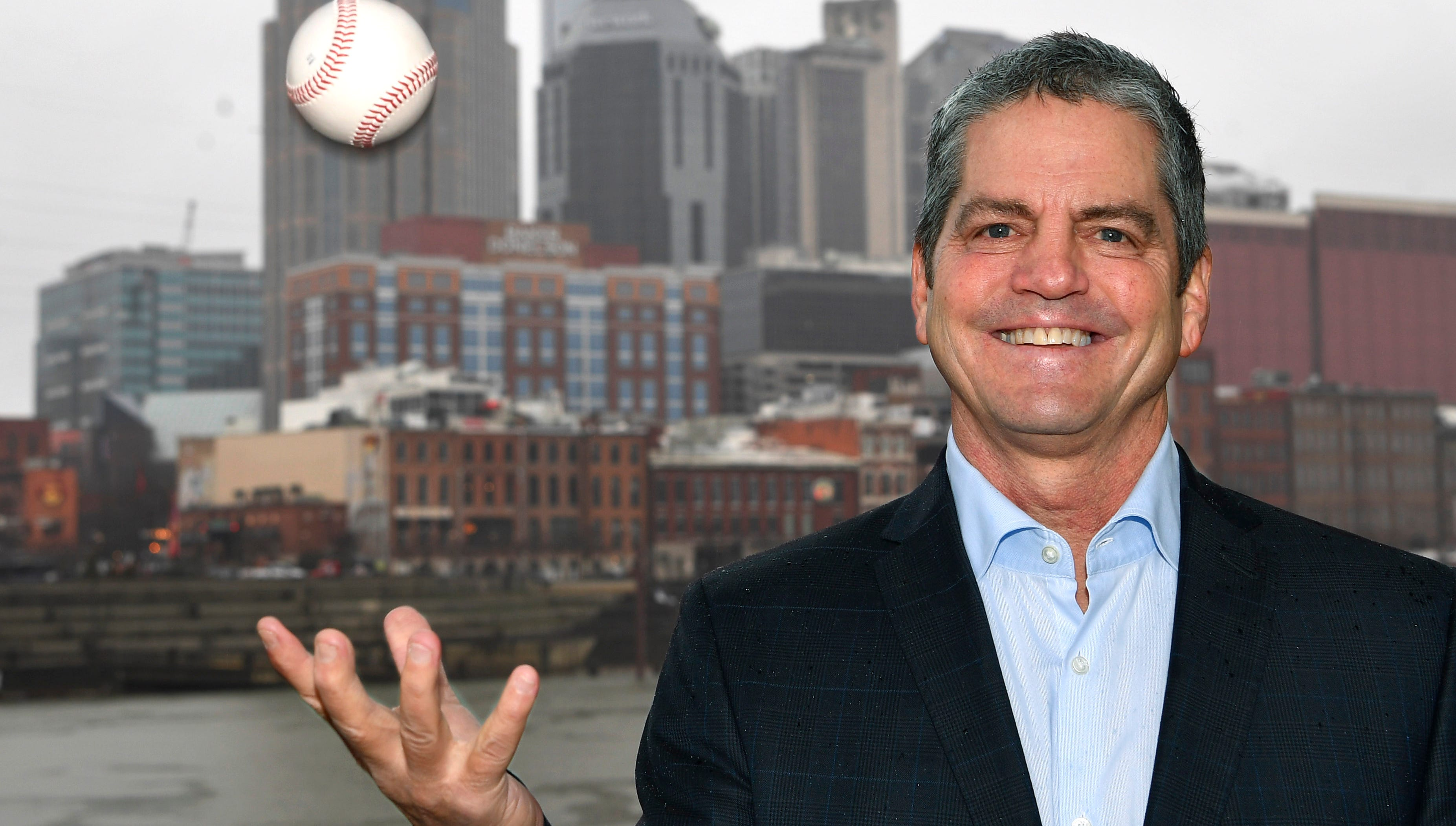 John Loar is a California businessman who has moved to Nashville with the pitch of bringing major league baseball to Music City Thursday Jan. 17, 2019, in Nashville, Tenn.
