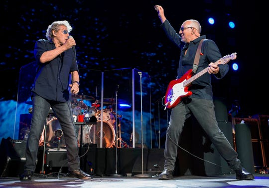 The Who (Roger Daltrey, left, and Pete Townshend) will perform Sept. 20 and Sept. 22, 2019, in Florida.