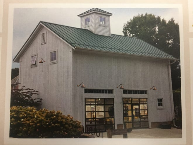 An illustration of the refurbished barn to serve as a proposed cidery that was shared with Granville Village Council earlier this year and approved later in 2019.