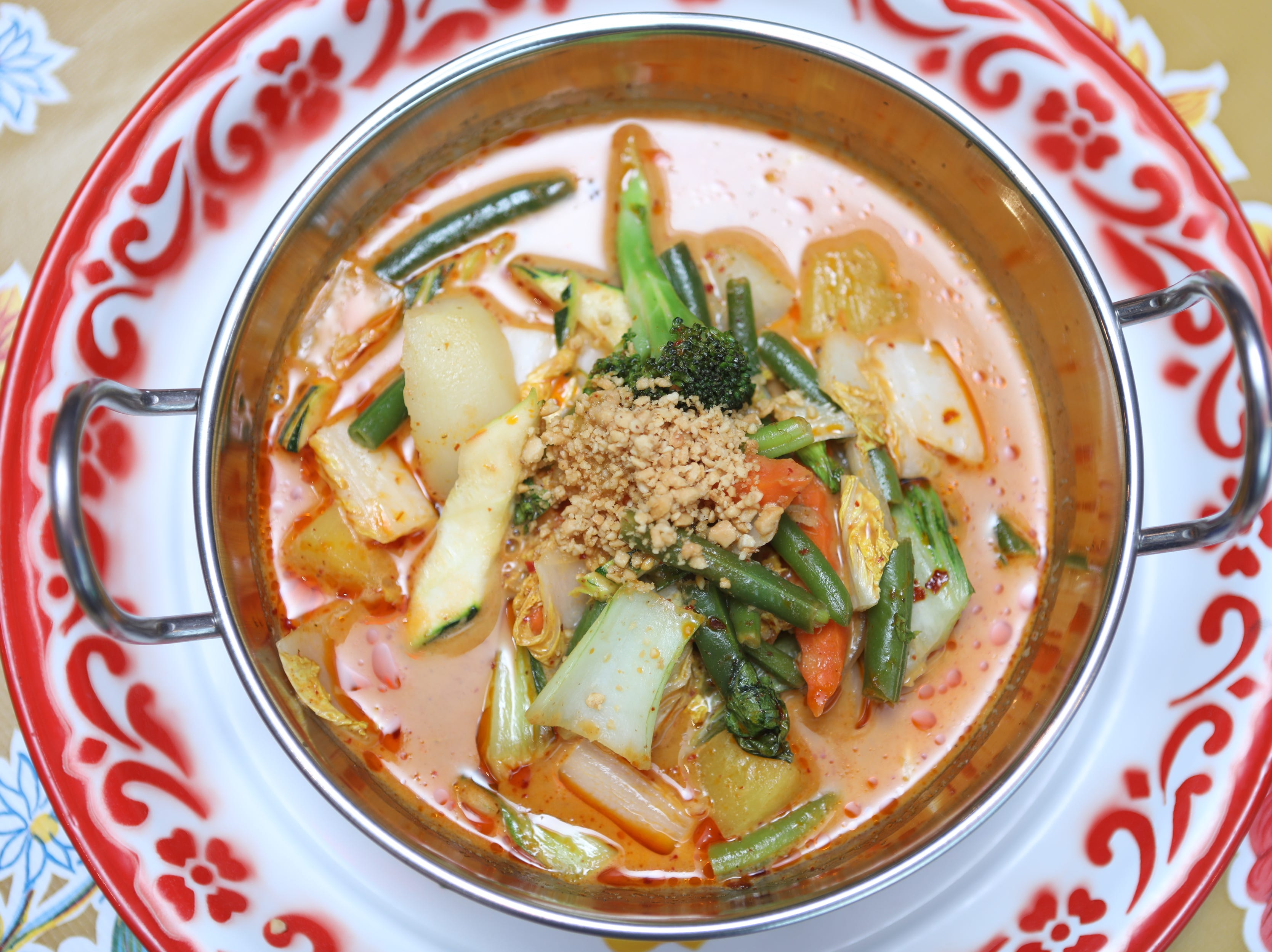 Vegetable Massaman curry is shown at Kai Yang in Montclair. Wednesday, January 16, 2019