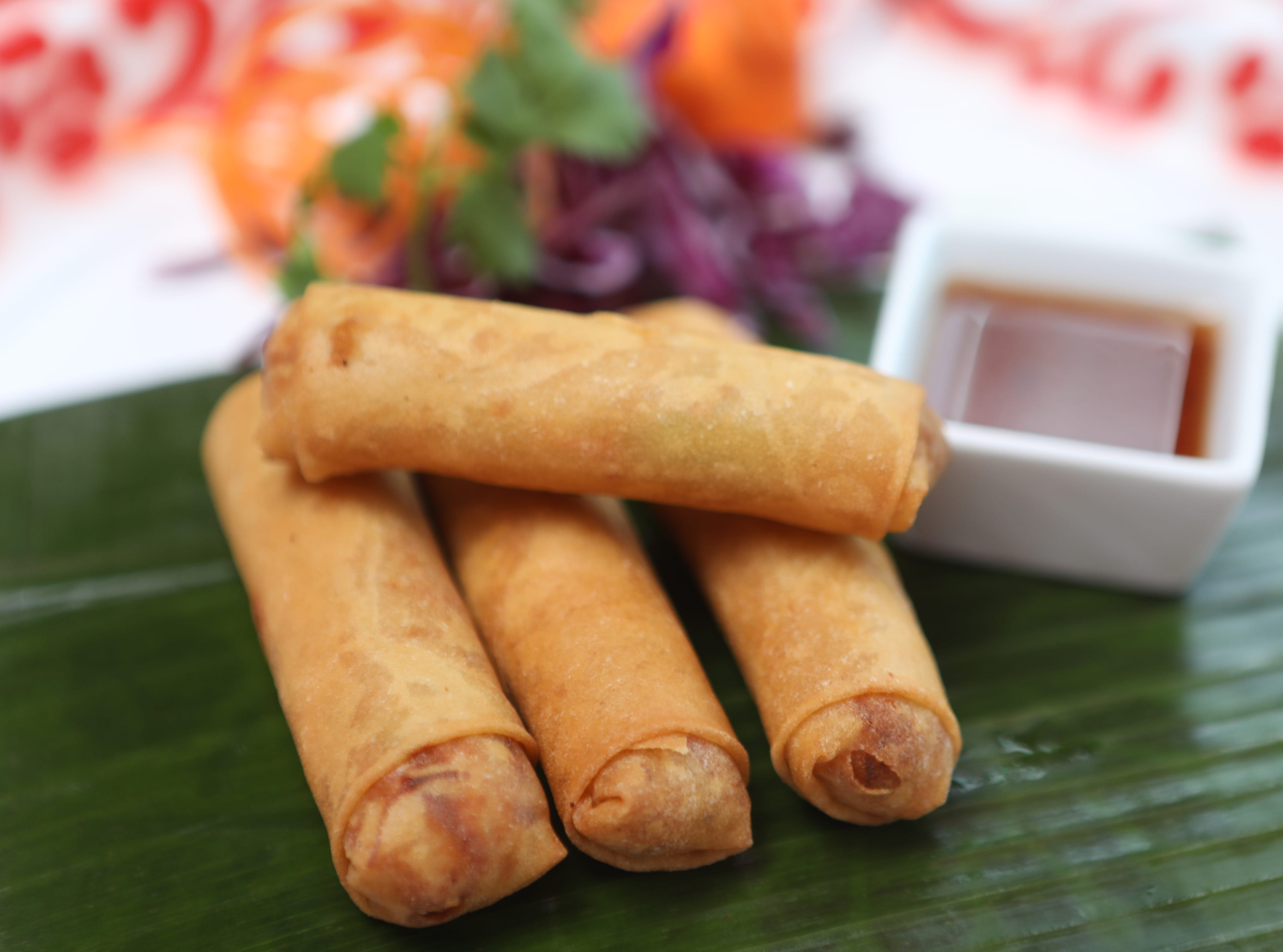 Spring rolls are shown at Kai Yang in Montclair. Wednesday, January 16, 2019