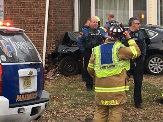 A driver crashed their car into a house in Fair Lawn Jan. 17, 2019.