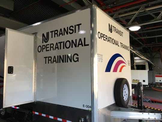 NJ Transit's bus simulator, at the agency's training center in Newark.