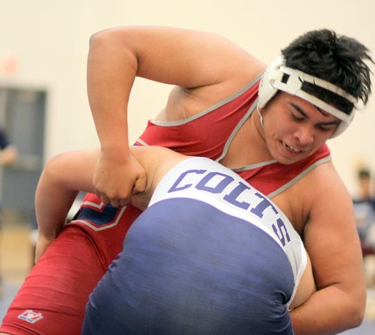 Freshman Wildcat Damian Sanchez wrestled long and hard in the heavyweight bout that extended into an overtime period and three 30-second ride outs before Silver's Jacoby Lockett secured a 1-0 victory.