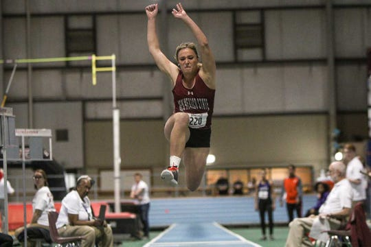 Hannah Smith competes in track and field for New Mexico State University.