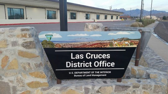 The Las Cruces office of the U.S. Bureau of Land Management, seen Wednesday, Jan. 16, 2019, is closed during an ongoing, partial federal government shutdown.