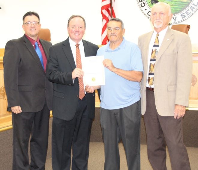 Gabriel Ramos, far left, with other members of the Grant County Commission. Ramos was recently appointed to replace Howie Morales in the New Mexico Legislature.