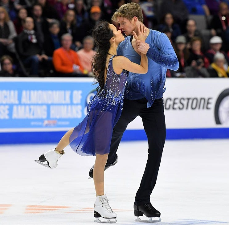 After a long hiatus, ice dancers Chock and Bates feel 'born again' heading to LCA