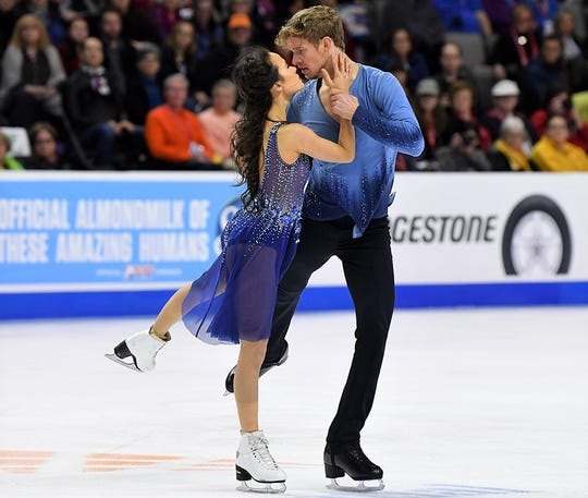 Madison Chock and Evan Bates recently competed in Poland in preparation for the US Figure Skating Championships in Detroit.