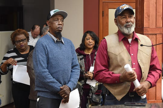 Anthony Standberry , foreground, and Albert Hayes  are among  the board members who asked the council to delay imposing a $500-per month lease for the Head Start building in Opelousas.