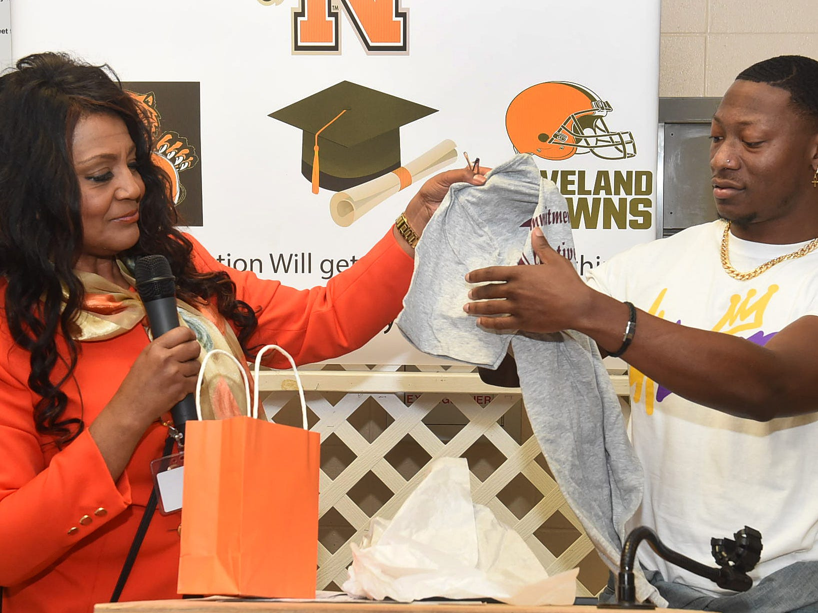 An outstanding football player at Opelousas High School, Boutte is now a member of the NFL Cleveland Browns.