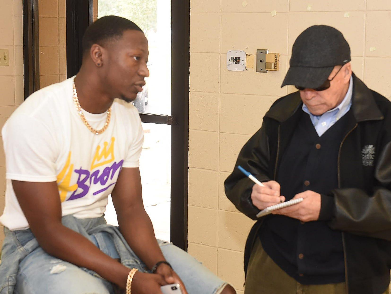 Daily World sports writer Bobby Ardoin interviews Christian Boutte
