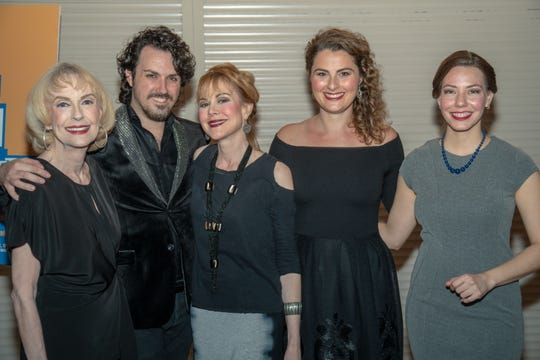 Deborah Harmon as Kitty, Costume Designer Michael Mullen, Yo Younger as Barbara, Olivia Saccomanno as Norma and Phylicia Mason as Millie.