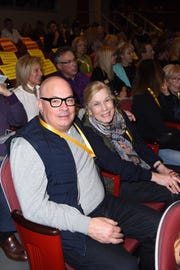 Festival Board members Peter Mahler and Mary Ann LaBahn, chair of the PSIFF Education Committee.