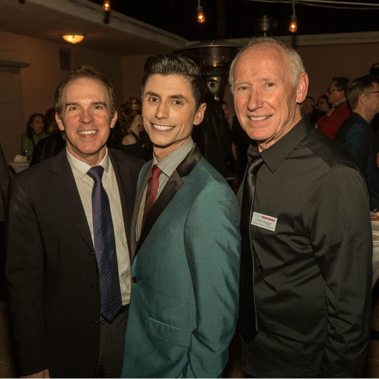 Artistic Director Michael Shaw,Teacher in the play Hanz Enyeart and Board President and play Producer Clark Dugger