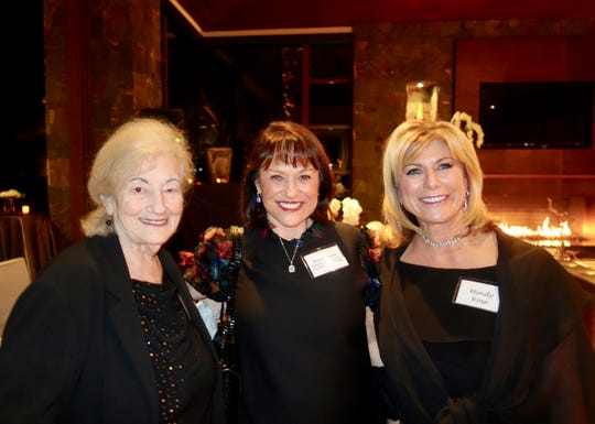 (L) Holocaust survivor Goldie Jacoby with board vice president Aviva Snow and Mindy Rose